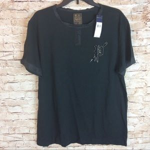 New Vintage Polo Ralph Lauren Tshirt Silk Trim